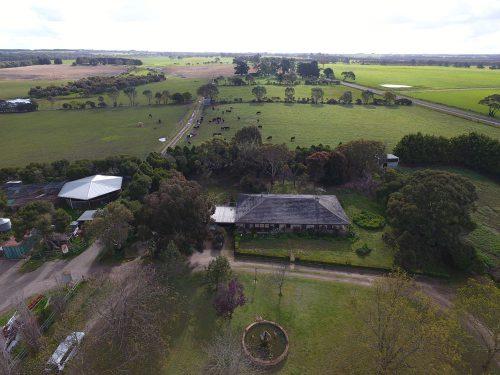 The family hobby farm from above.
