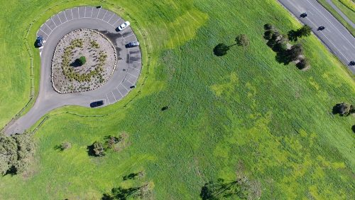Our drone overhead looking down on us at Eastern Park