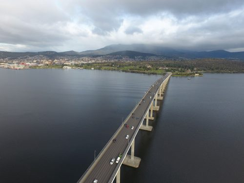 Tasman Bridge in Hobart Tas, Australia