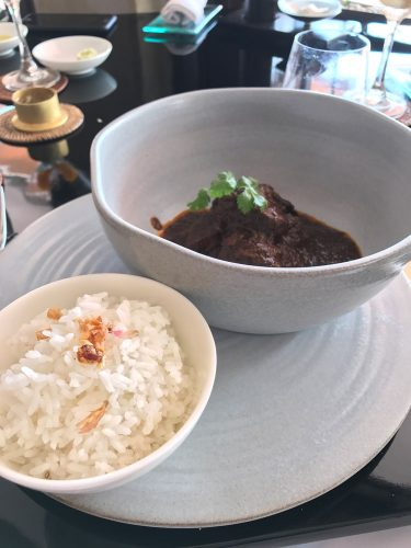 The Restaurant at The Legian Wagyu Beef Rendang with Rice