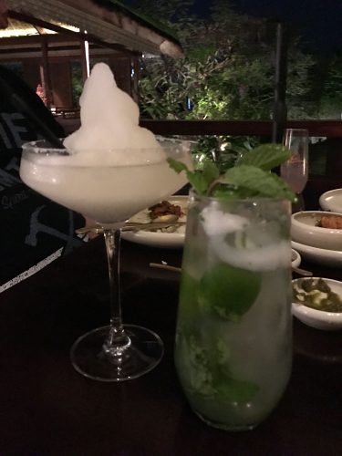 Bambu Restaurant Frozen Lime Margarita and Coconut Mojito