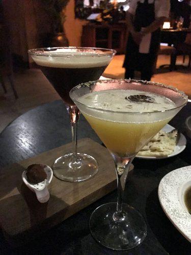 Espresso Ginger Martini and Passionfruit Margarita
