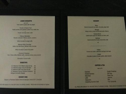 Merah Putih's Dessert menu