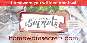 Homeware Secrets Advertising Banner