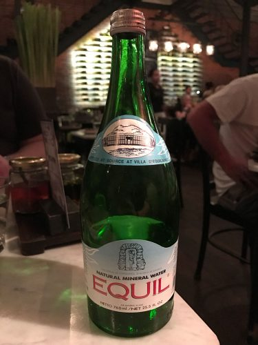 EQUIL still water, bottled at the source at Villa D'Equilibrium
