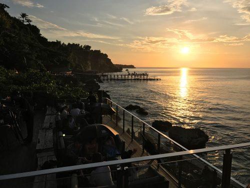 Bali sunset from Ayana's Rock Bar