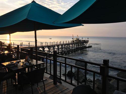 Our private jetty seen from Kisik Grill & Bar