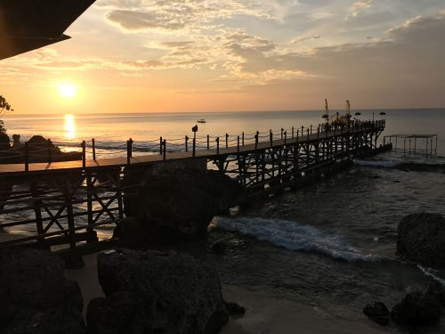 Bali sunset with our private jetty. What a beautiful sight!