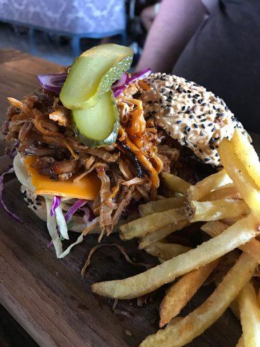 The Bistrot Pulled Pork Burger