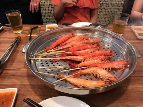 Rong Fu Ji cooked prawns