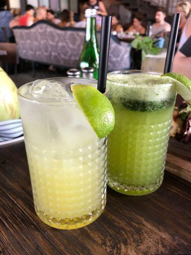 The Bistrot Sugarcane drinks
