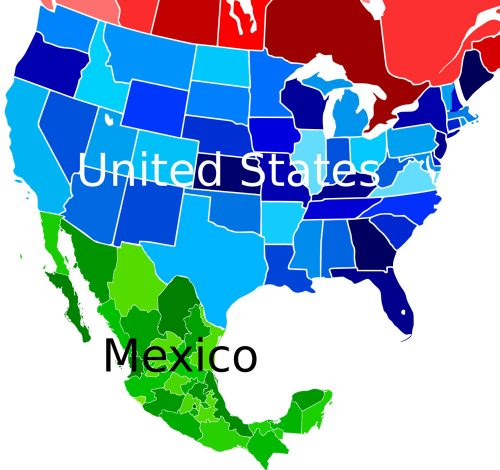 USA-Mexico Map