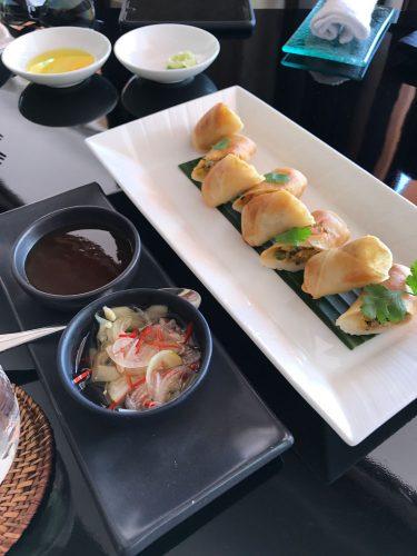 The Restaurant at The Legian Vegetarian Spring Rolls