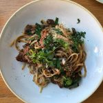 Linguine Lamb and mushroom raghu